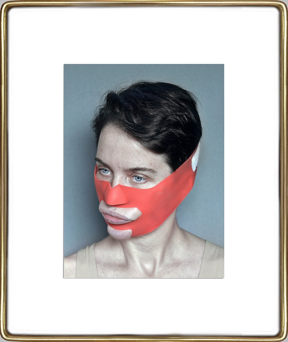 Aneta Grzeszykowska   Beauty Mask #2 , 2017  Pigment ink on cotton paper  16.93 x 12.40 inches  23.82 x 19.23 inches (framed)  Edition of 3 + I A.P.