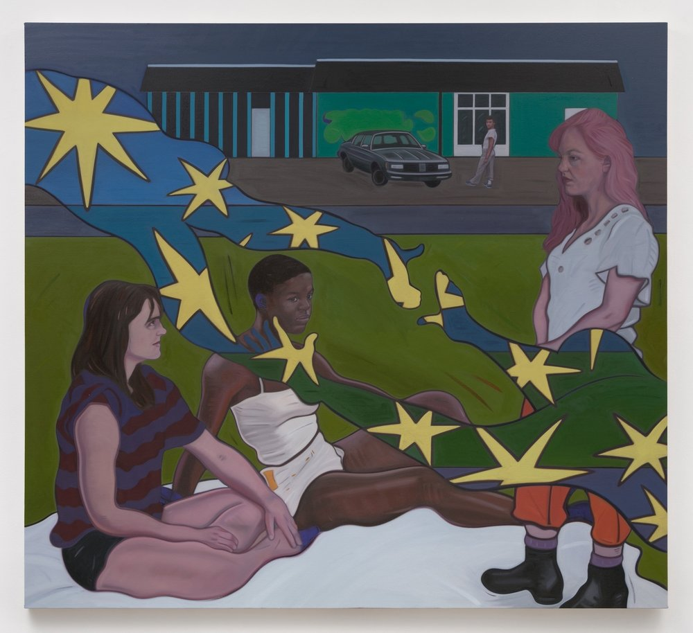 Stuart Lorimer   Poetesses , 2018  Oil on canvas  62.5 x 69 inches