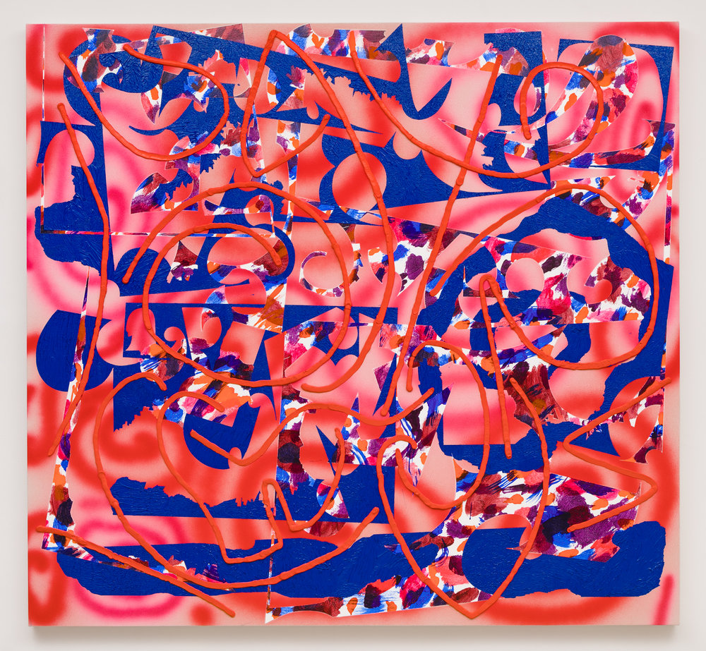 Trudy Benson    Early Heat , 2017  Acrylic and oil on Canvas  61 x 66 inches
