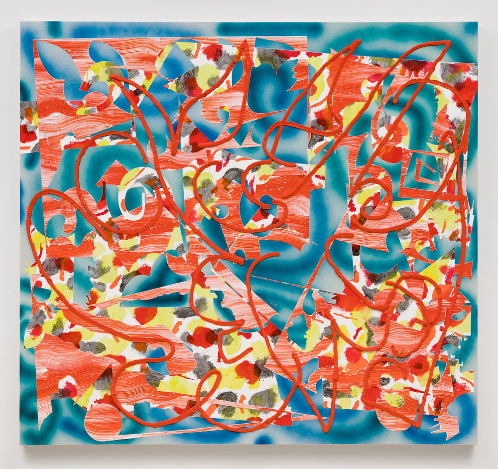 Trudy Benson    Late Heat , 2017  Acrylic and oil on Canvas  61 x 66 inches