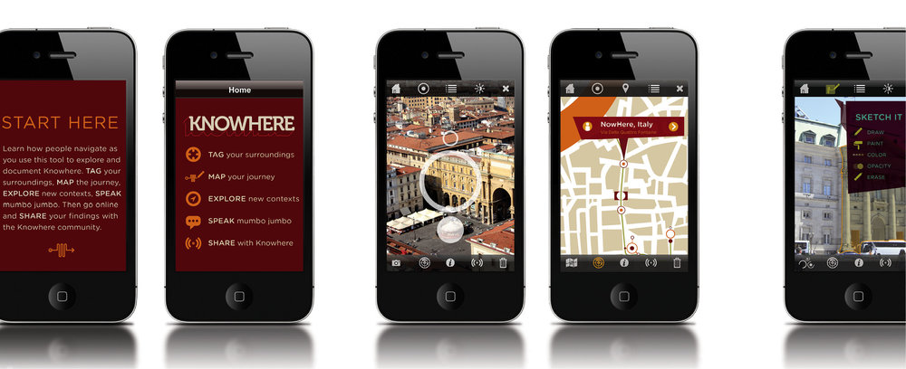 category screens in the iPhone app provide access to different ways of tagging, mapping, and exploring wayfinding ideas.
