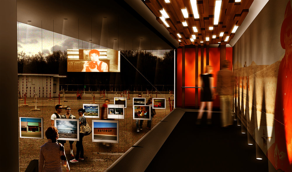 mobile gallery, rendering by Stephen Young