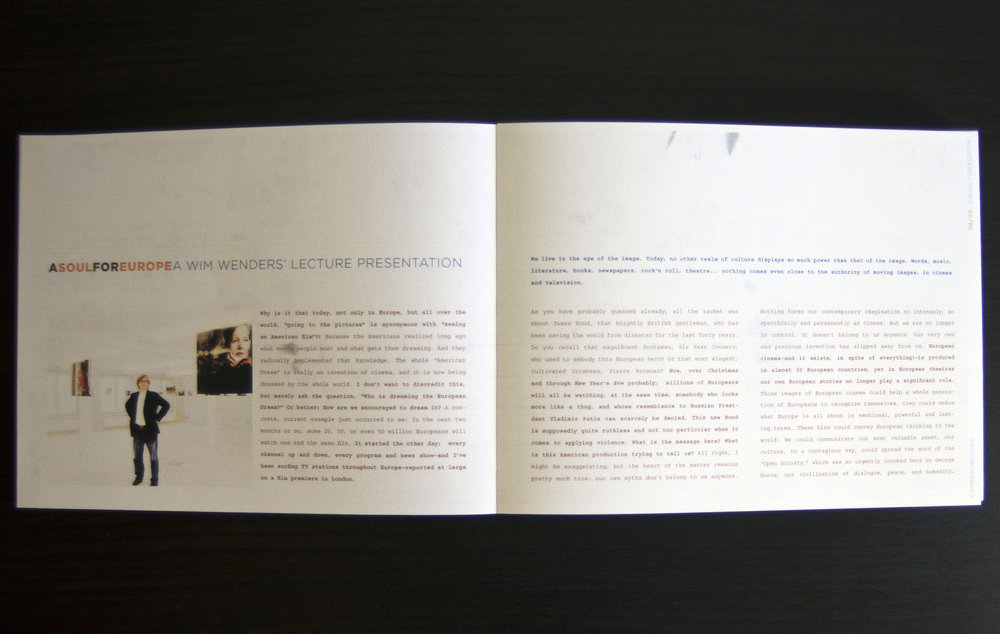 festival book, director's profile