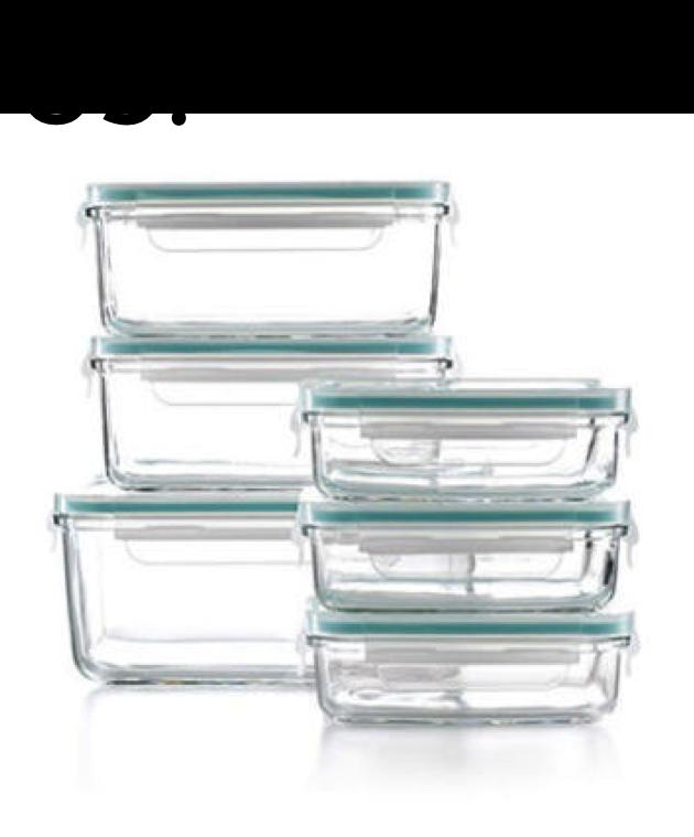 Martha Stuart Glass Storage Containers