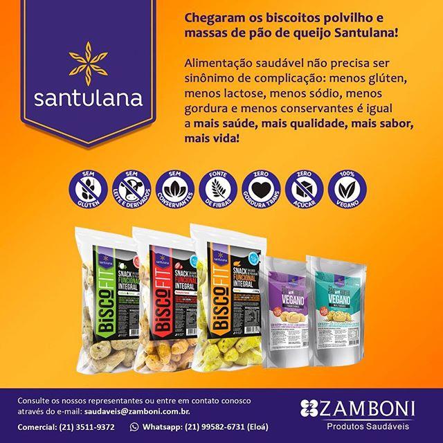 Agora você vai encontrar os produtos Santulana nos estados do Rio de Janeiro e Espírito Santo através da nossa mais nova parceria: a Zamboni Comercial!  Pra saber mais é só entrar em contato: saudaveis@zamboni.com.br (21) 3511-9372 #zambonidistribuidora #chegamosnorj #chegamosnoes #errejota #rj #santulana #vivaoequilibrio #semglutensemlactose #semconservantes #comidadeverdade #vemcomagente
