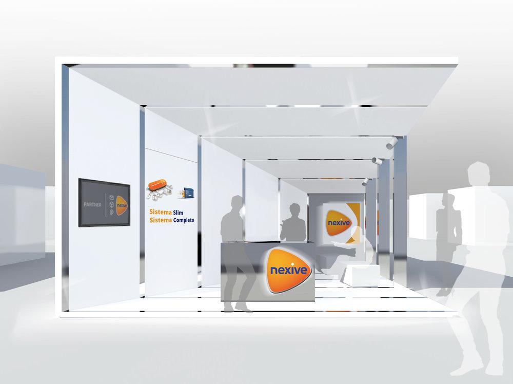 Immagine virtuale dello stand.