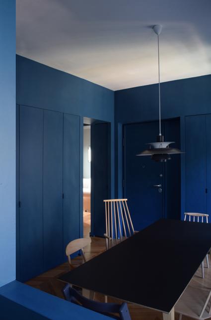 La sala da pranzo, da cui si accede all'albitazione.