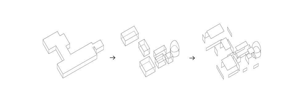 Lo schema che sintetizza lo spunto creativo inziale, a partire dal quale è stato sviluppato il progetto.
