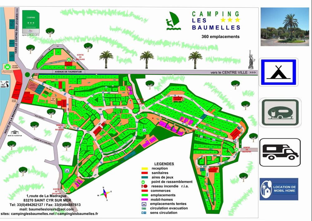 Camping des baumelles for Garage citroen saint cyr sur mer