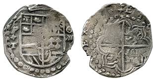 8 Reales Cob coin, Potosi mint, 1618-1621 Assayer T