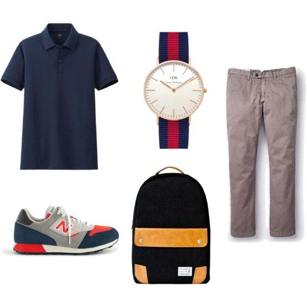 Shirt: Uniqlo, Sneakers: New Balance, Bookbag: Venque, Pants: Jack Spade, Watch: Daniel Wellington