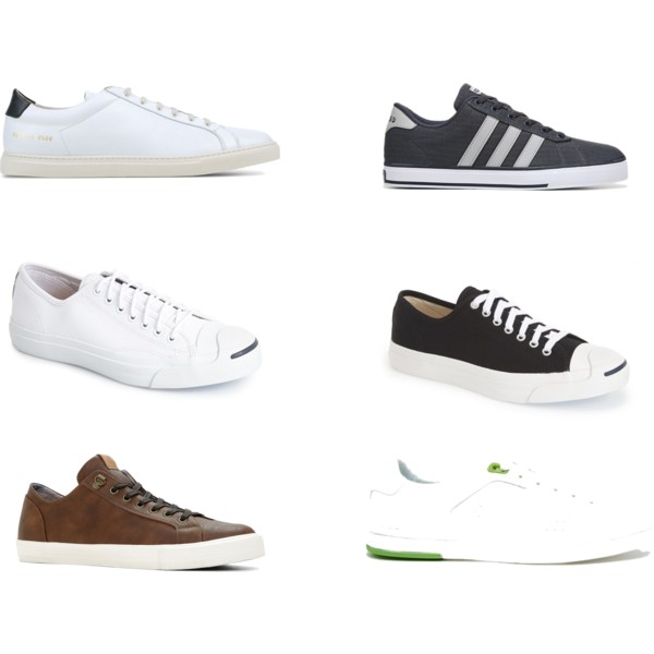 $400 at Common Projects | $60 at Adidas | $80 at Converse  | $65 at Converse | $75 at ALDO | $285 at Hugo Boss (from left to right)