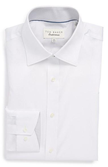'Oncore' Trim Fit Micro Stripe Dress Shirt - $98.50