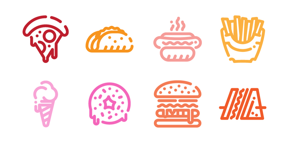 Fat Fast Food Icons   by Rafael Masse via The Noun Project