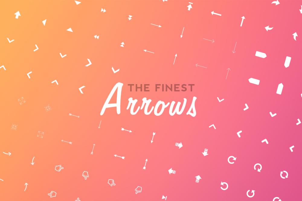 196 Arrows Icon Set  by FinestPixels via Creative Market