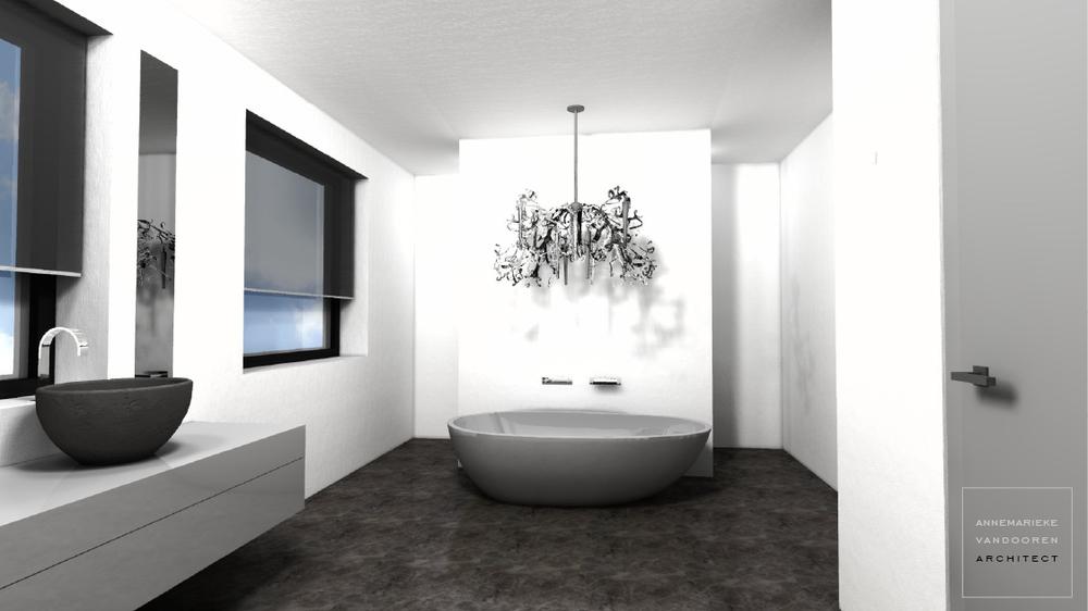 Strakke Badkamer Wanden : Badkamer stucen mooier en schoner dan betegelen