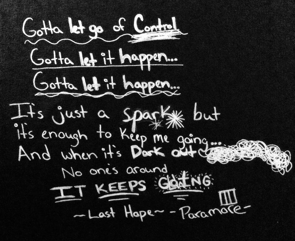 last hope lyrics written on the lyric wall in my bedroom