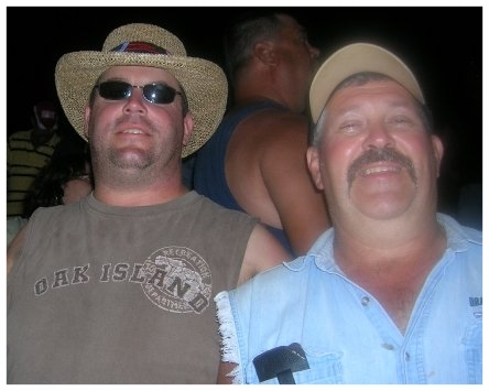 My Dad (left) and Mike (right) at a race. This picture makes me laugh. They obviously didn't know the right angle for a picture haha.