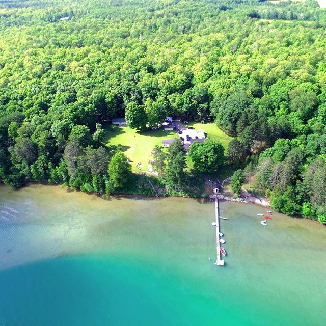 Sugarcrest and the aquamarine jewel of the North...Sugar Lake.  #sugarcrest, #sugarlake, #vacationrental, #minnesotavacation