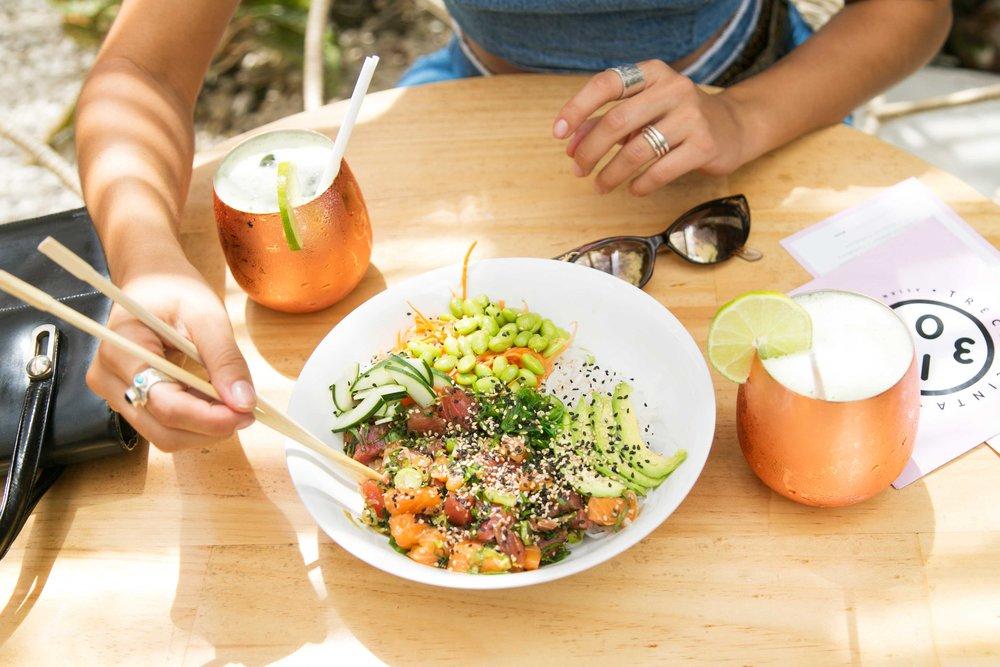Poke Tuna ,  Harajuko sushi burger  y  Grill Salad  de Salmón, son algunos de mis platos favoritos.