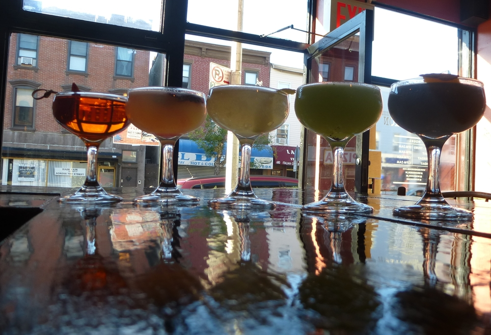 Rainbow of cocktail flavors