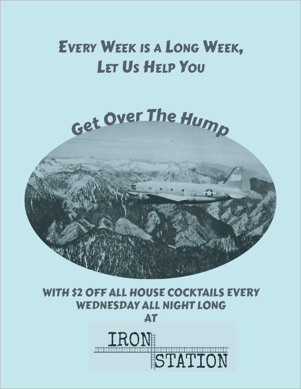 Cocktail special, $2 off house cocktails, every Wednesday all night long