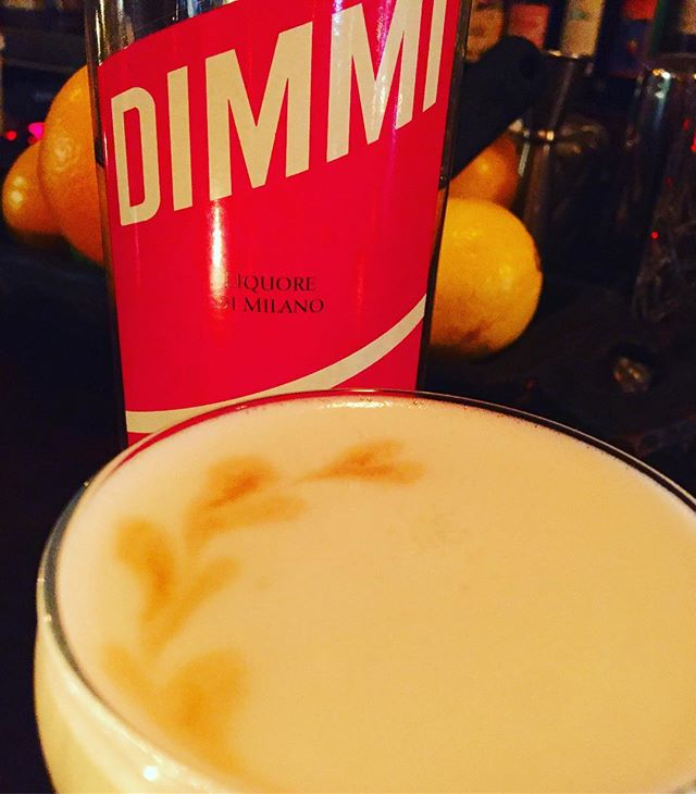 Jane's sending the love tonight-come check out the latest from #Jane'sExperimentalCocktailClub at #ironstationbk every Tuesday night. Tonight we're featuring Dimmi, a grapefruit inflected Italian liquor. This has Dimmi, pink peppercorn vodka lemon egg white and burlesque bitters. #cocktailporn #bespokecocktail #omgthatsdelicious