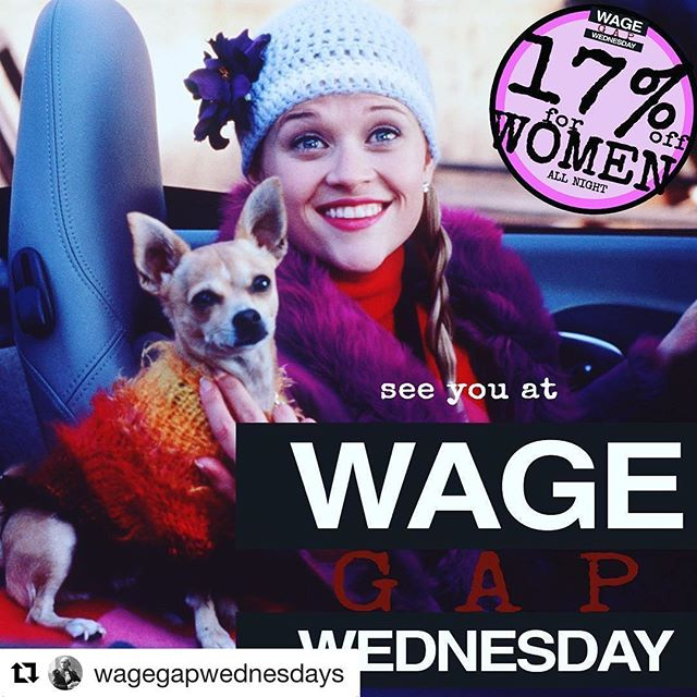 #Repost @wagegapwednesdays (@get_repost) ・・・ It's getting chilly, so grab your fave sweater and your bff for 17% off, awesome girly tunes, and #legallyblonde at 11 @ironstationbk! Plus 20% of tips go to #plannedparenthood #feminism #feminist #brooklyn #parkslope #southslope #barlife #brooklynbar #girlpower #femaleentrepreneur #ellewoods #wagegapwednesdays #wagegapwednesday #women#ladiesnight #girlsnightout #rockthevote #istandwithpp#bff#bruiserwoods #sweaterweather
