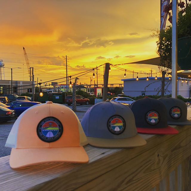 Sunset, hat set. Some fresh lids for the ladies and the gents. All locally made, locally designed, come check em out 🤙🏽🤙🏽🤙🏽#surfcitysurfschool #freshgear #hats #locallymade #yew