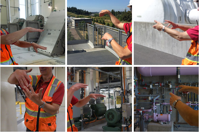 Description of some of the processes during a visit of Brightwater wastewater treatment plant