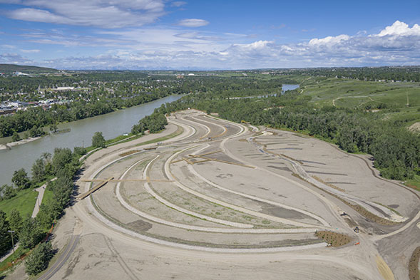 East Bowmont Park, July 2017.   Image from Wilco Contractors SW