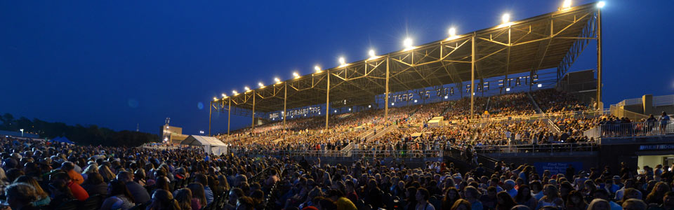 The Grandstand is made of iron, concrete, thousands of seats, and has a capacity for up to 17,000 people.  Such a structure is not an ideal environment for cellular data service.   Photo courtesy of mnstatefair.org.