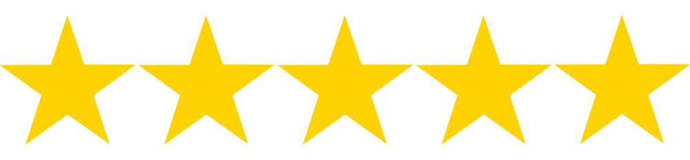 5/5 Star Rating -