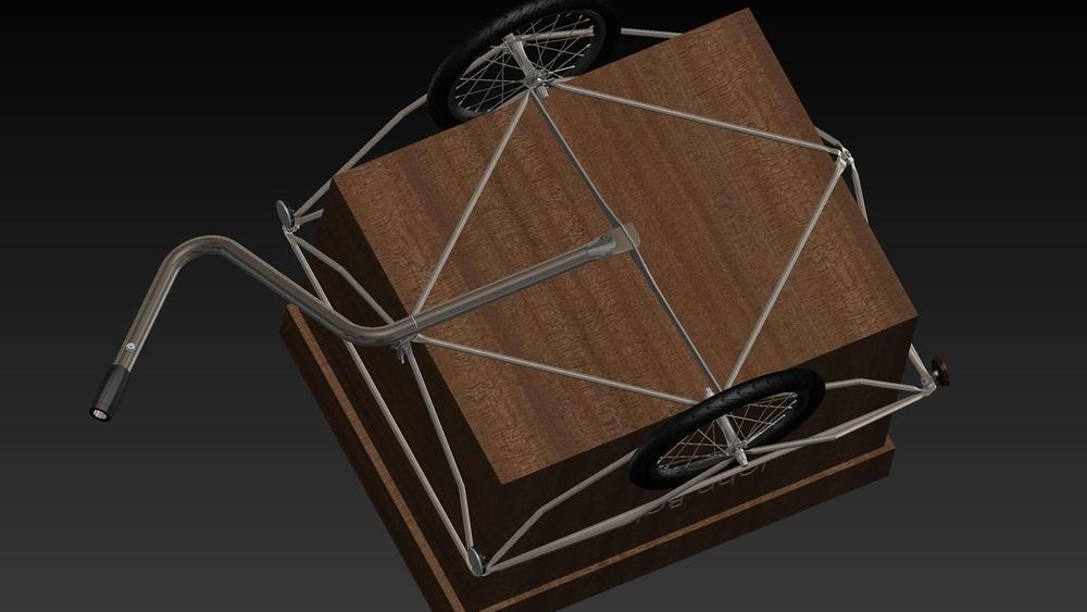 im 3d-CAD passten wir den Spaceframe exakt der Kiste an.