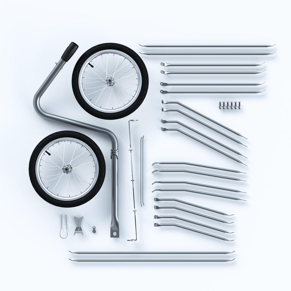 Material  - Edelstahlrohr (1.4404) mit 1mm Wandstärke. Abhängig von Grösse oder Anwendung mit Ø10, 12 oder 15mm Durchmesser und M8 oder M10 Edelstahlverschraubung.