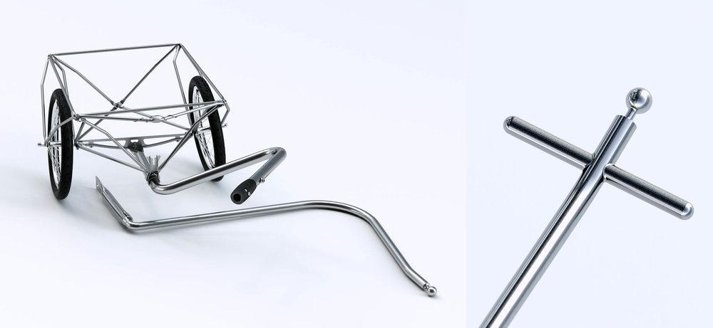 Umbausatz und Kreuzgriff - polyroly mit s.Deichsel lassen sich ohne Werkzeug in z-polyroly umbauen und mit einem Kreuzgriff lassen sich von Hand schwere Ladungen noch komfortabler bewegen.