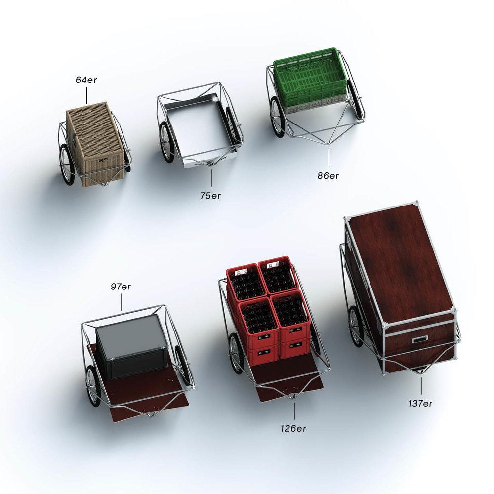 Normlos  - Aber schlussendlich ist egal, welcher Norm eine Kiste oder Behälter entspricht. Transportiert wird, was passt. Die Auswahl an Möglichkeiten ist riesig.