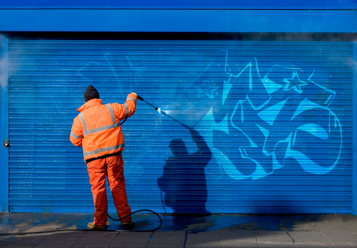 Anti-Graffiti PROPERTY - DuraGrip Plus™ has inherent chemical resistance properties that prevent bonding of paint, spray paint and markers allowing them to be removed without damaging the coatings. Pressure wash or scrub with warm soapy water will remove most graffiti. More difficult to remove areas can still be treated without damage to the coating.