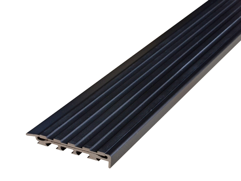Recessed Direct Stick Black Anodised Profile with Squared Black Anodised Insert