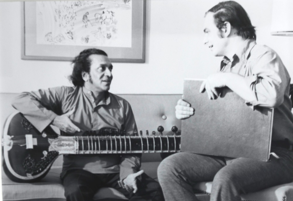 Kenneth Hari with Ravi Shankar
