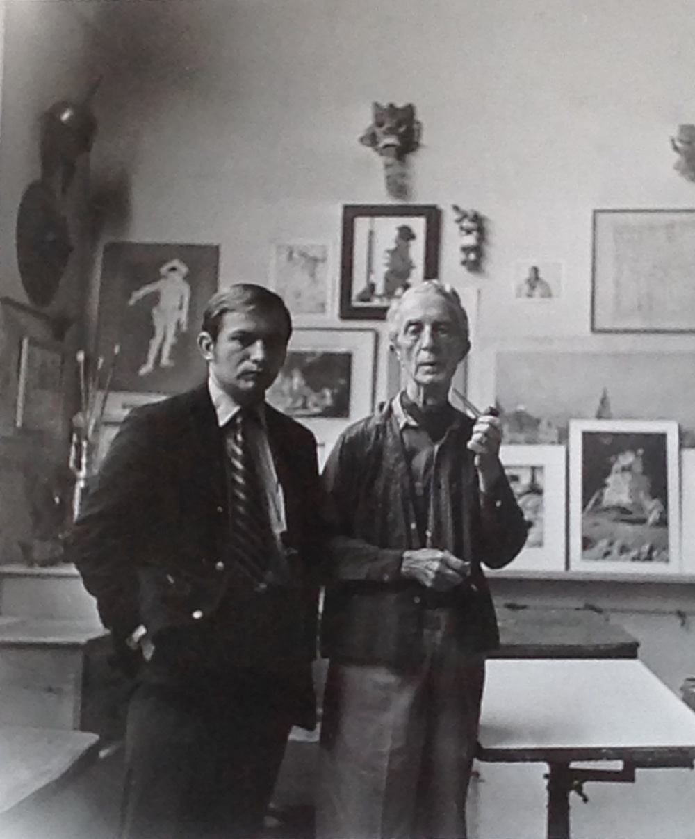 Kenneth Hari with Norman Rockwell