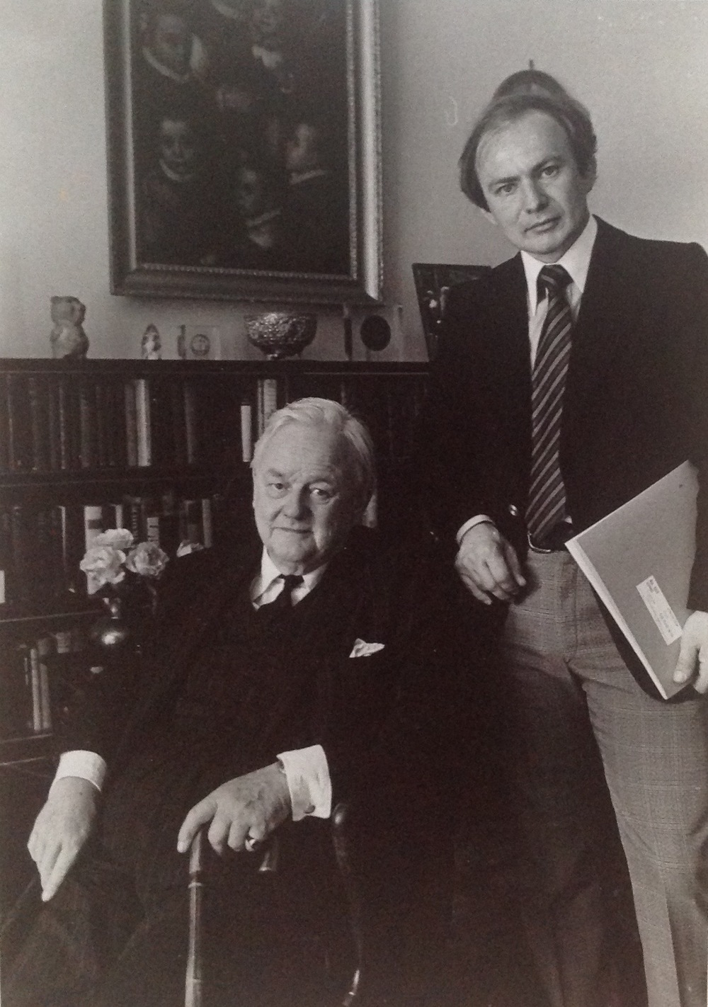 Kenneth Hari with Lord Hailsham