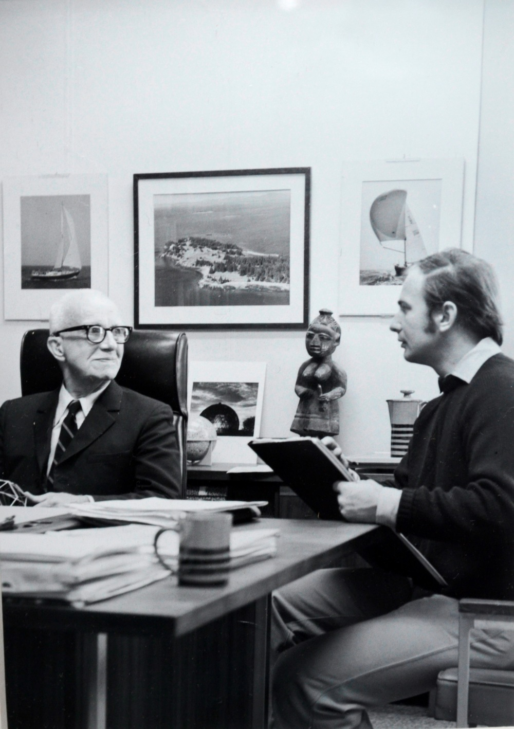 Kenneth Hari with Buckminster Fuller