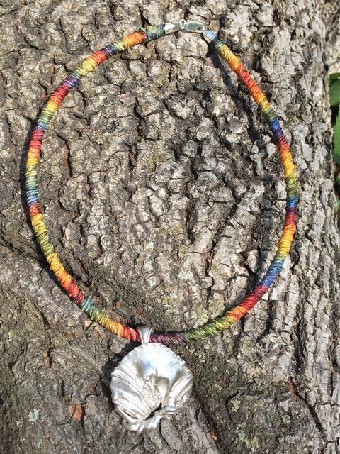 Sterling Shellburst Necklace