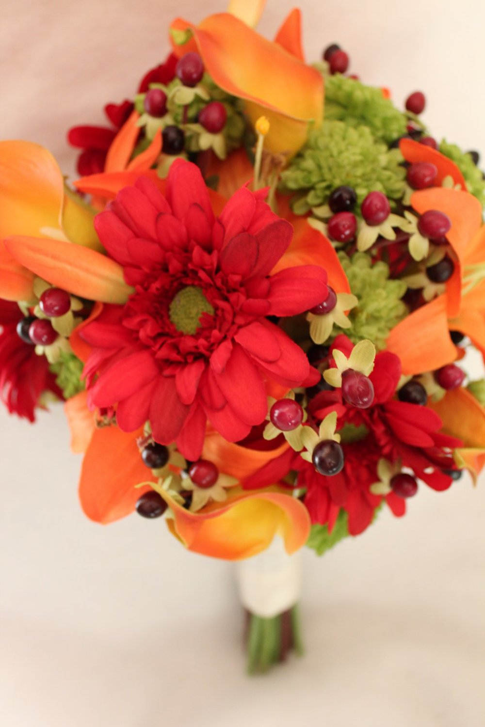 Wedding Flowers in Fall Colors | Part I — Silk Wedding Flowers and ...