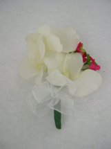 Cream Orchid and Pink Accent Flower Corsage - Minneapolis Silk Florist