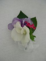 Cream Orchid, Purple Hydrangea and Pink Accent Corsage - Minneapolis Silk Florist