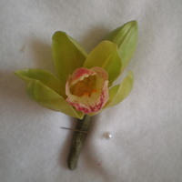 Green Orchid Boutonniere - Minneapolis Silk Florist
