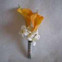 Yellow Calla and White Accent Flower Boutonniere - Minneapolis Silk Florist