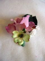 Lavender Rose, Green Dogwood and White Accent Flower Boutonniere - Minneapolis Silk Florist